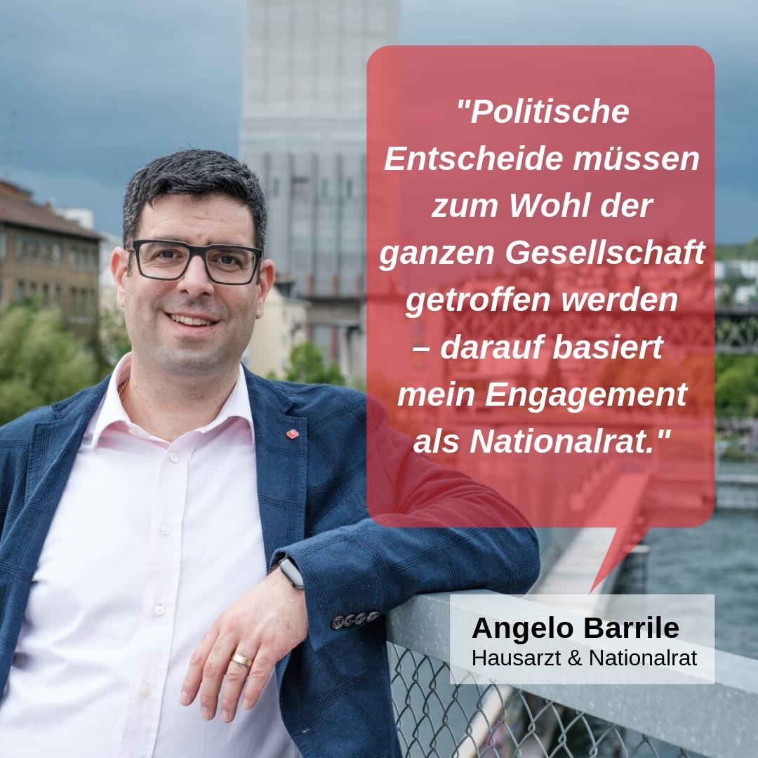 """""""Politische Entscheide müssen zum Wohl der ganzen Gesellschaft getroffen werden - darauf basiert mein Engagement als Nationalrat."""""""