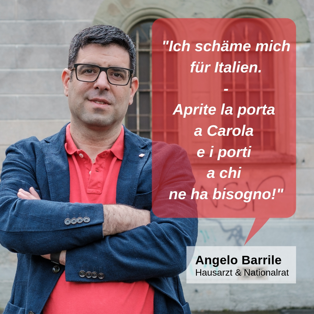 """""""Ich schäme mich für Italien - Aprite la porta a Carola e i porti a chi ne ha bisogno!"""""""