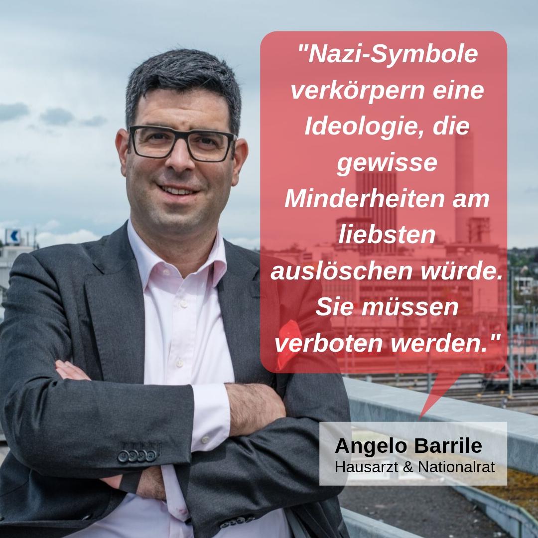 """""""Nazi-Symbole verkörpern eine Ideologie, die gewisse Minderheiten am liebsten auslöschen würde. Sie müssen verboten werden."""""""