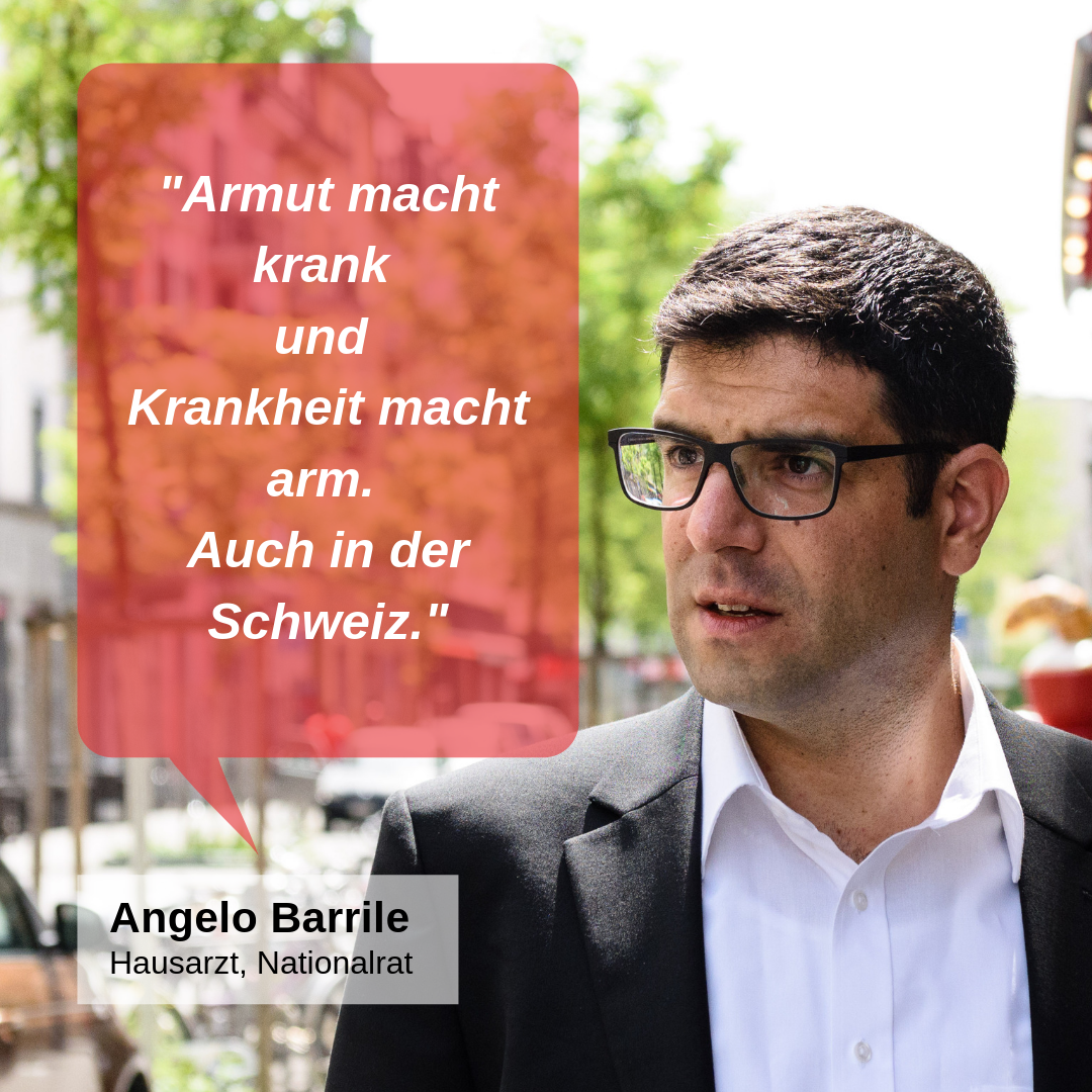 """""""Armut macht krank und Krankheit macht arm. Auch in der Schweiz."""""""