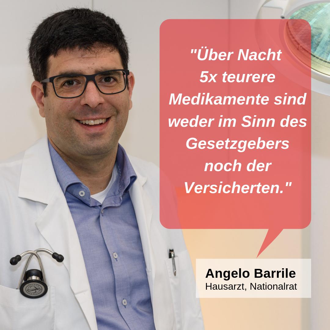 """""""Über Nacht 5x teurere Medikamente sind weder im Sinn des Gesetzgebers noch der Versicherten."""""""