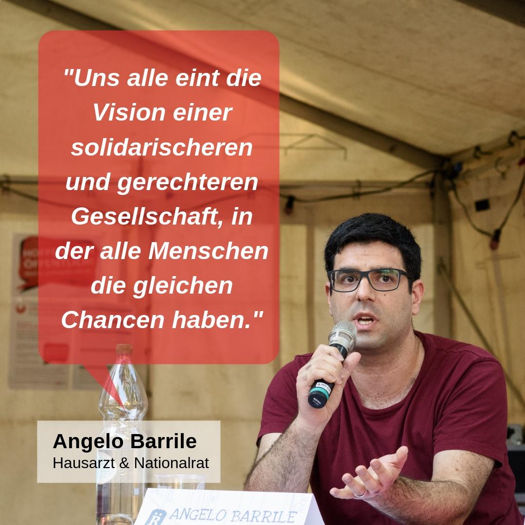 """""""Uns alle eint die Vision einer solidarischen und gerechteren Gesellschaft, in der alle Menschen die gleichen Chancen haben."""""""