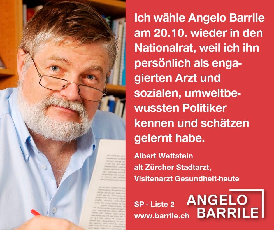 Albert Wettstein, alt Zürcher Stadtarzt, Visitenarzt Gesundheit-heute