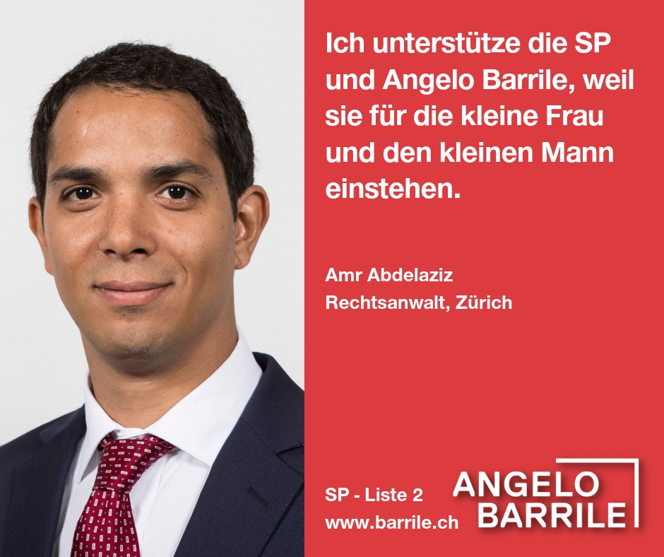 Amr Abdelaziz, Rechtsantwalt, Zürich
