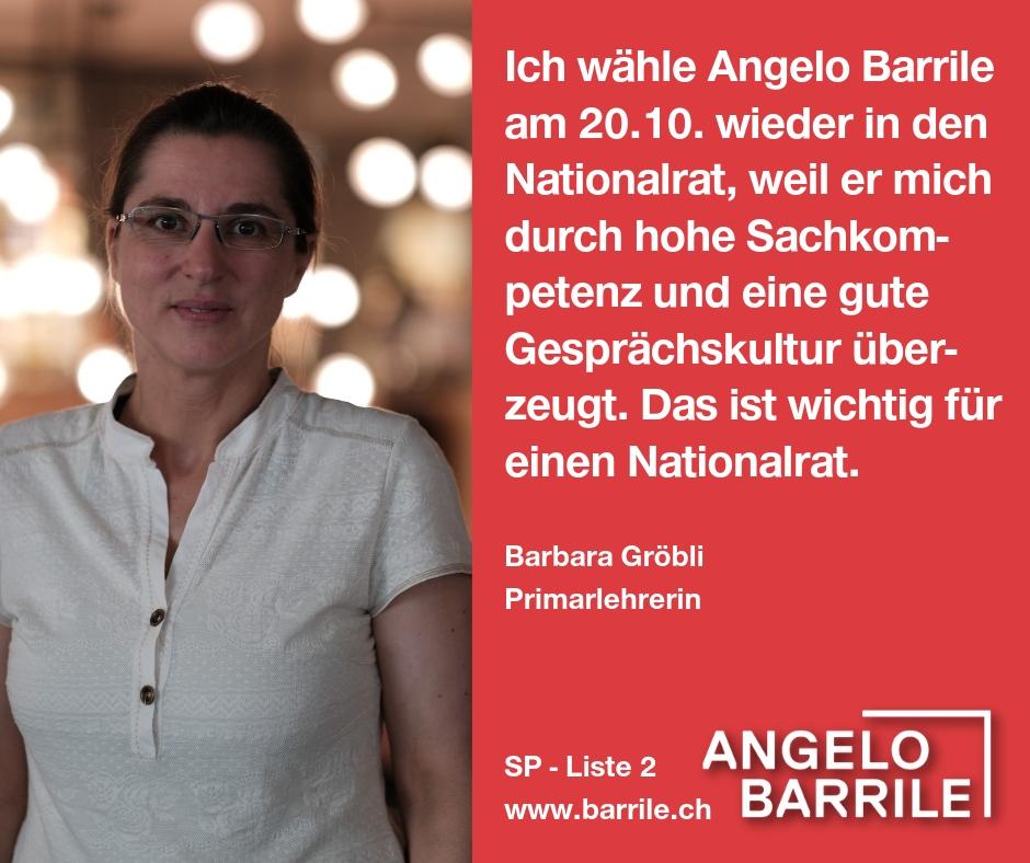 Barbara Gröbli, Primarlehrerin