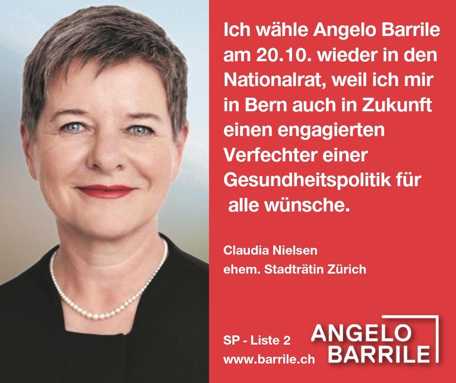 Claudia Nielsen, ehem. Stadträtin Zürich