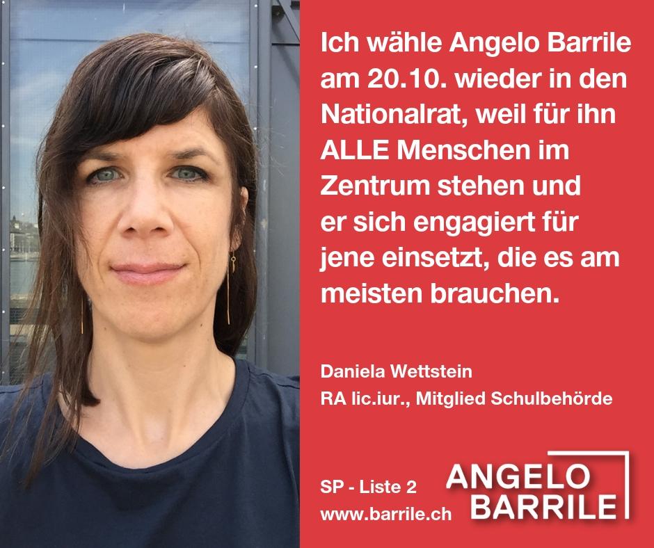Daniela Wettstein, RA lic. iur, Mitglied Schulbehörde