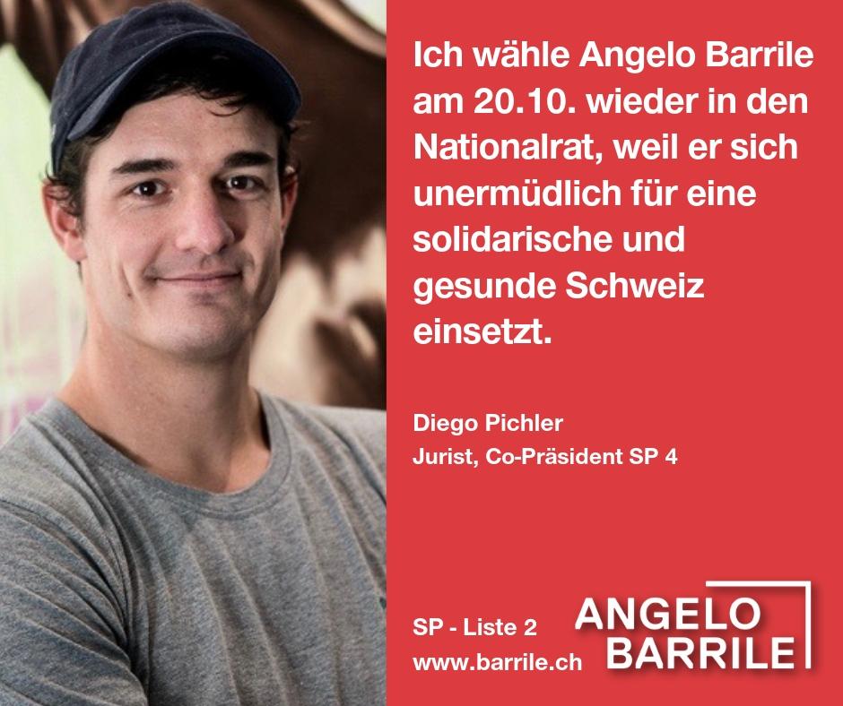 Diego Pichler, Jurist, Co-Präsident SP Zürich 4