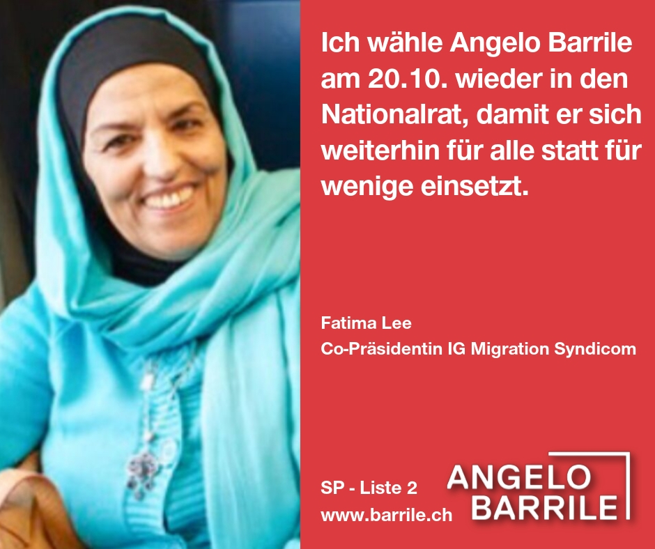 Fatima Lee, Co-Präsidentin IG Migration Syndicom