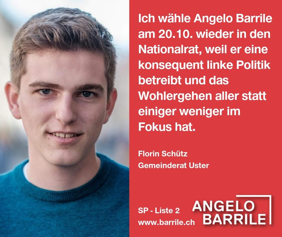 Florin Schütz, Gemeinderat Uster