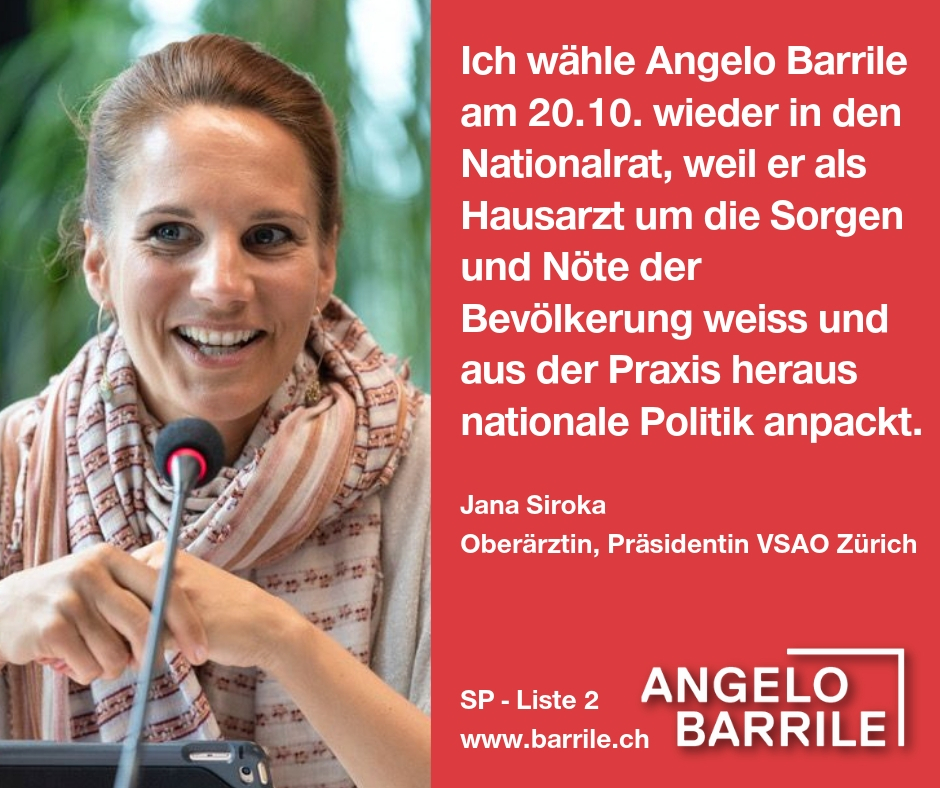 Jana Siroka, Oberärztin, Präsidentin VSAO Zürich