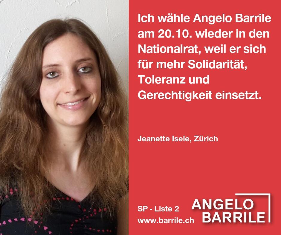 Jeanette Isele, Zürich
