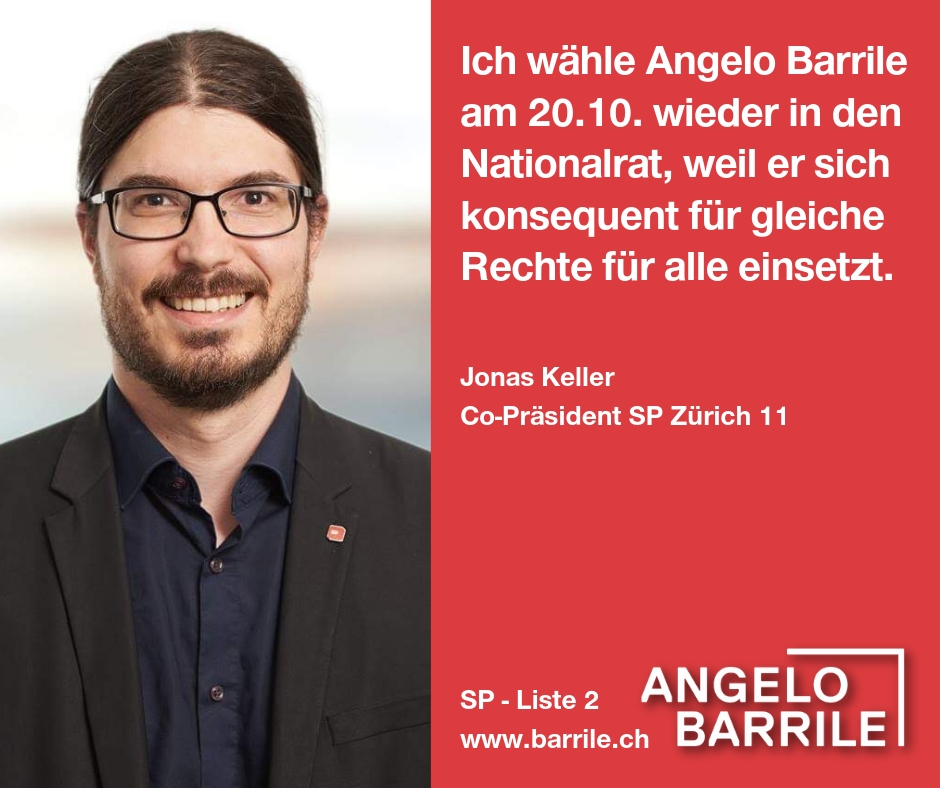 Jonas Keller, Co-Präsident SP Zürich 11