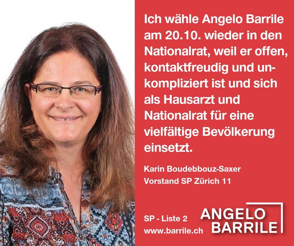 Karin Boudebbouz-Saxer, Vorstand SP Zürich 11