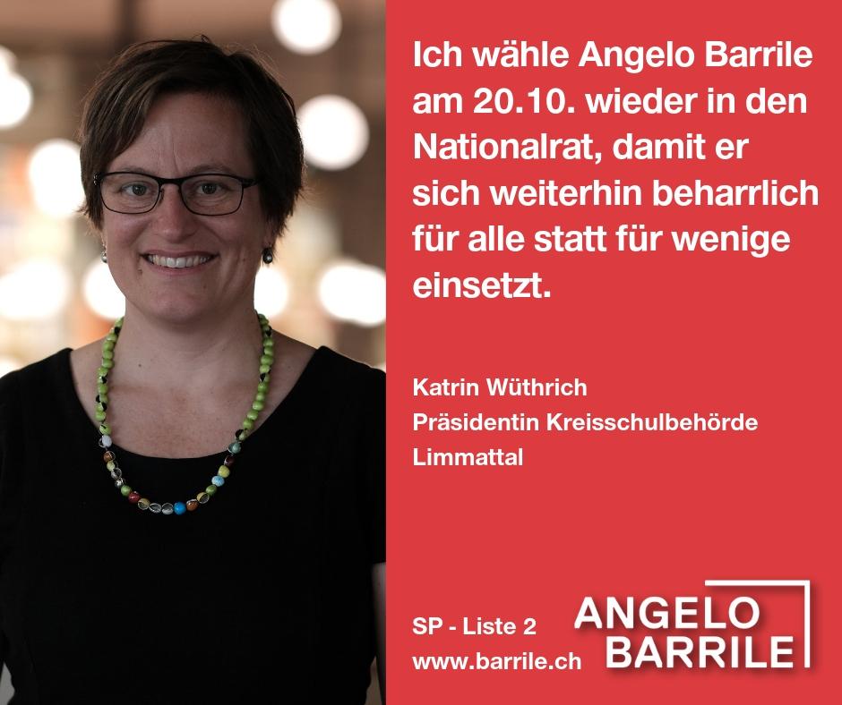 Kathrin Wüthrich, Präsidentin Kreisschulbehörde Limmattal