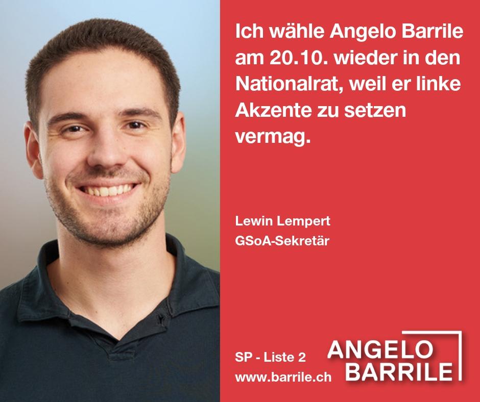 Lewin Lempert, GSoA-Sekretär