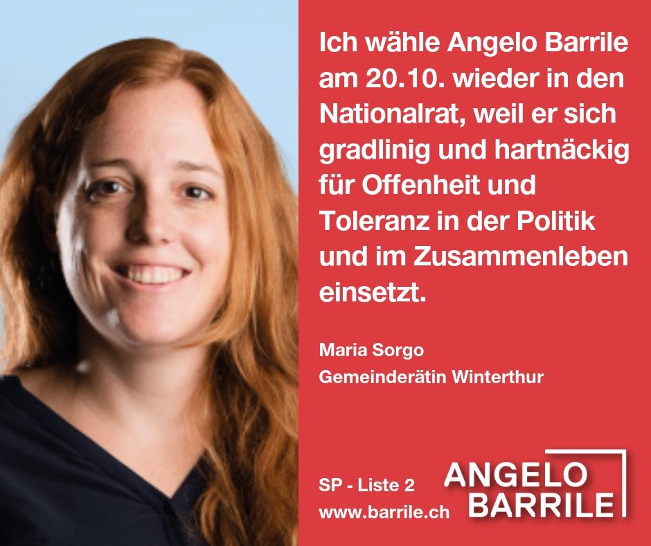 Maria Sorgo, Gemeinderätin Winterthur