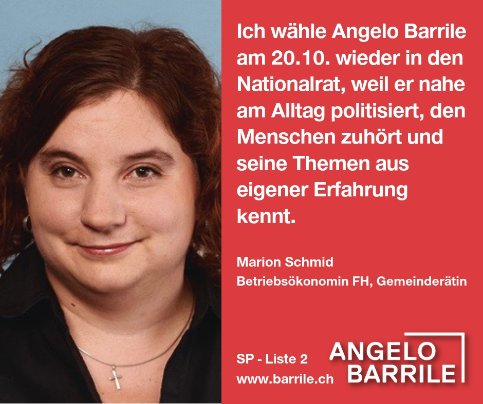Marion Schmid, Betriebsökonomin FH, Gemeinderätin