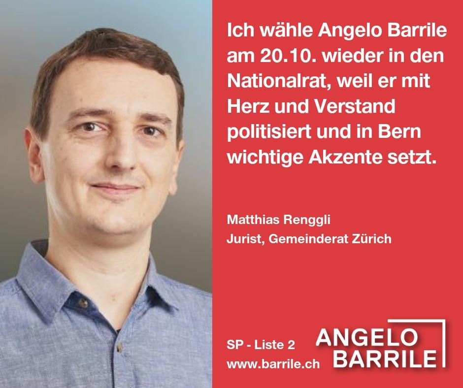 Matthias Renggli, Jurist, Gemeinderat Zürich