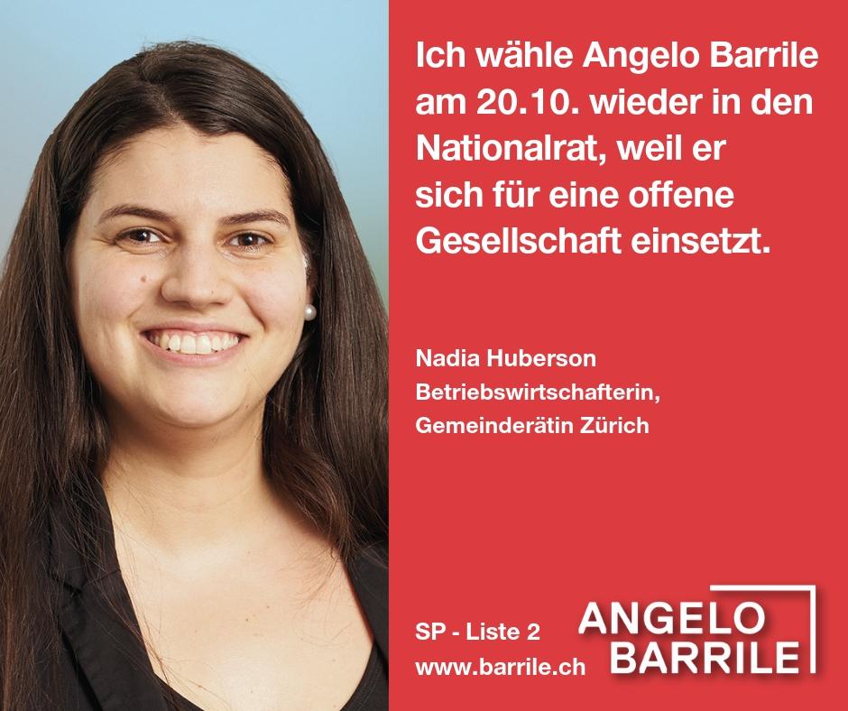 Nadia Huberson, Betriebswirtschafterin, Gemeinderätin Zürich