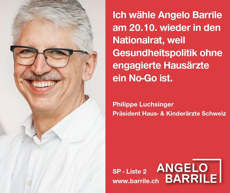 Philippe Luchsinger, Präsident Haus- und Kinderärzte Schweiz