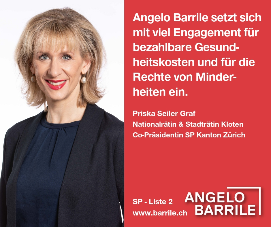 Priska Seiler Graf, Nationalrätin & Stadträtin Kloten, Co-Präsidentin SP Kanton Zürich