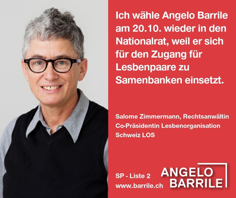 Salome Zimmermann, Rechtsanwältin und Co-Präsidentin Lesbenorganisation LOS