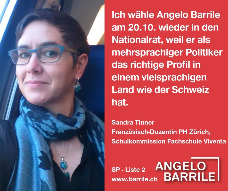 Sandra Tinner, Französisch-Dozentin PH Zürich, Schulkommission Fachschule Viventa