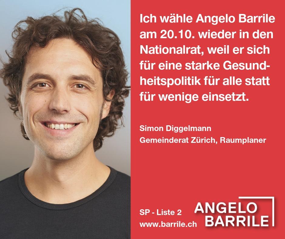Simon Diggelmann, Gemeinderat Zürich, Raumplaner