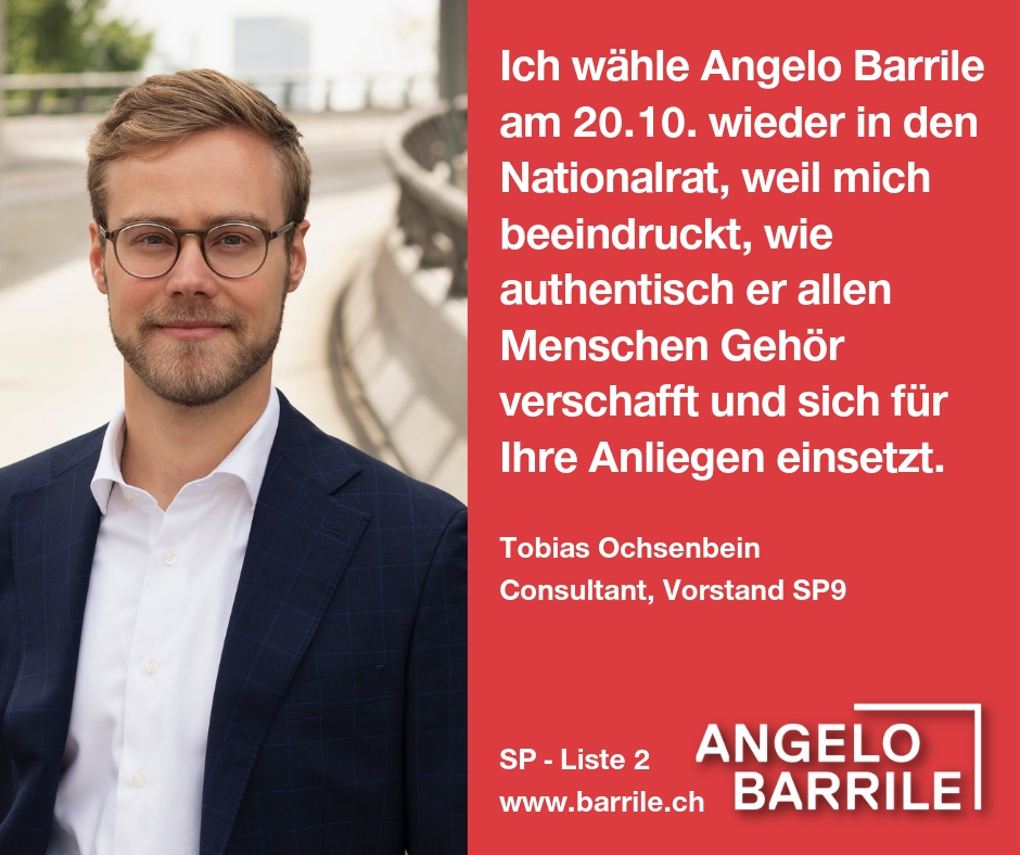 Tobias Ochsenbein, Consultant und Vorstand SP9