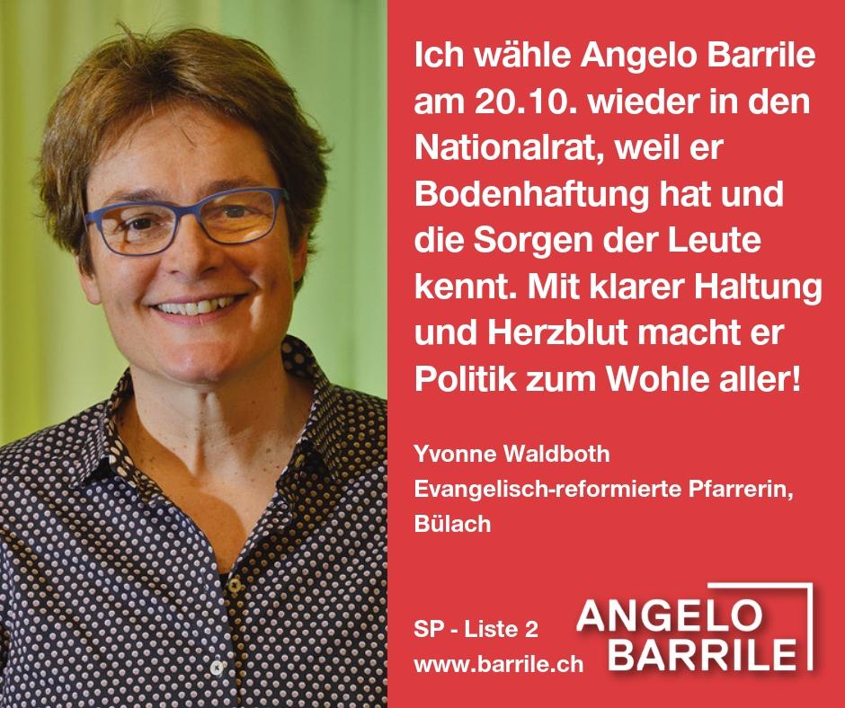 Yvonne Waldboth, Evangelisch-reformierte Pfarrerin, Bülach