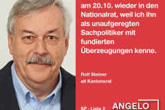 Rolf Steiner, alt Kantonsrat