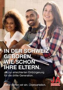 Kampagnenplakat zur Abstimmung vom 12. Februar 2017