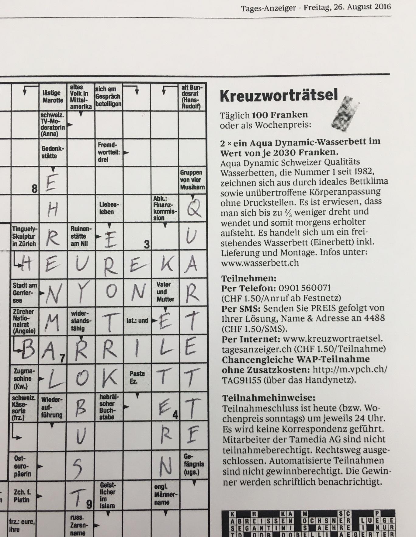 Ungewöhnlich Kreuzworträtselvorlage Ideen - Beispiel Business ...