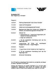 1. August-Ansprache @ Heiget-Huus in Fehraltorf | Fehraltorf | Zürich | Schweiz